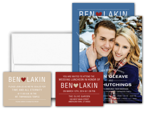 utah wedding invitations  lds wedding invitations, invitation samples
